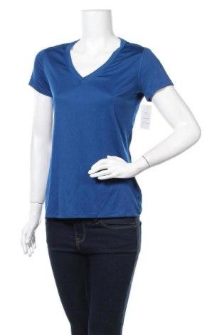 Γυναικείο t-shirt Champion, Μέγεθος S, Χρώμα Μπλέ, Πολυεστέρας, Τιμή 7,73€
