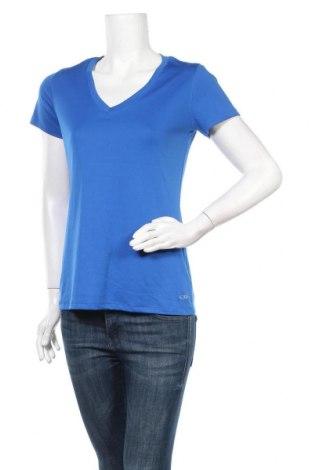 Γυναικείο t-shirt Champion, Μέγεθος M, Χρώμα Μπλέ, Πολυεστέρας, Τιμή 9,38€