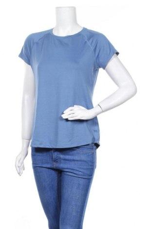 Γυναικείο t-shirt Champion, Μέγεθος M, Χρώμα Μπλέ, 94% πολυεστέρας, 6% ελαστάνη, Τιμή 3,64€