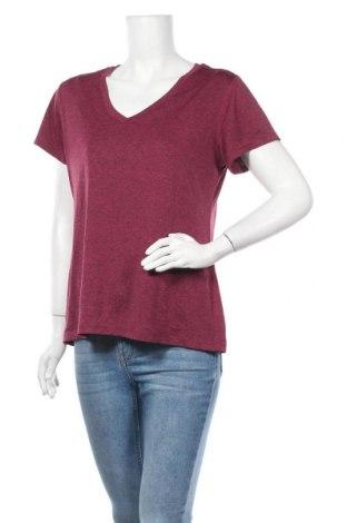 Γυναικείο t-shirt Champion, Μέγεθος XL, Χρώμα Βιολετί, Πολυεστέρας, Τιμή 10,49€
