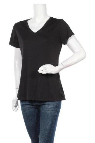 Γυναικείο t-shirt Champion, Μέγεθος XL, Χρώμα Μαύρο, Πολυεστέρας, Τιμή 9,35€