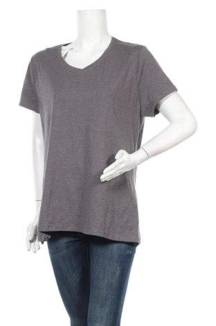 Γυναικείο t-shirt Champion, Μέγεθος XL, Χρώμα Γκρί, 60% βαμβάκι, 40% πολυεστέρας, Τιμή 6,07€