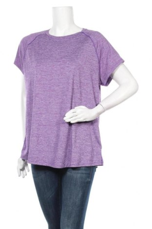 Γυναικείο t-shirt Champion, Μέγεθος XXL, Χρώμα Βιολετί, 94% πολυεστέρας, 6% ελαστάνη, Τιμή 5,26€