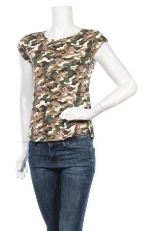 Дамска тениска Clockhouse, Размер XS, Цвят Многоцветен, Памук, Цена 4,73лв.