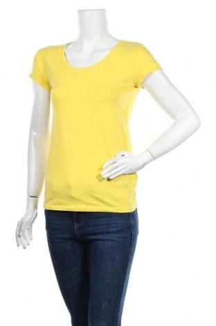 Дамска тениска Colours Of The World, Размер S, Цвят Жълт, 95% памук, 5% еластан, Цена 14,70лв.