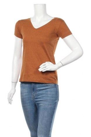 Дамска тениска Colours Of The World, Размер XS, Цвят Бежов, 60% памук, 40% полиестер, Цена 13,39лв.