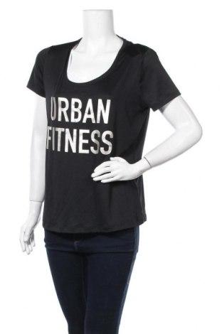 Дамска тениска Crivit, Размер L, Цвят Черен, 92% полиестер, 8% еластан, Цена 8,98лв.