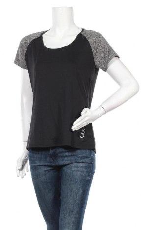 Дамска тениска Crivit, Размер M, Цвят Черен, 89% полиестер, 11% еластан, Цена 15,12лв.