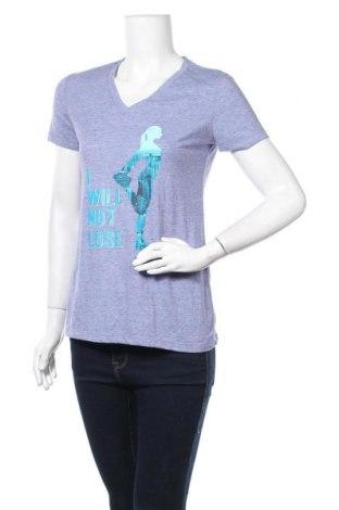 Дамска тениска Danskin, Размер S, Цвят Син, 80% полиестер, 20% памук, Цена 12,50лв.