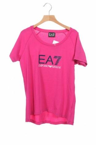 Дамска тениска Emporio Armani, Размер S, Цвят Розов, Цена 87,72лв.