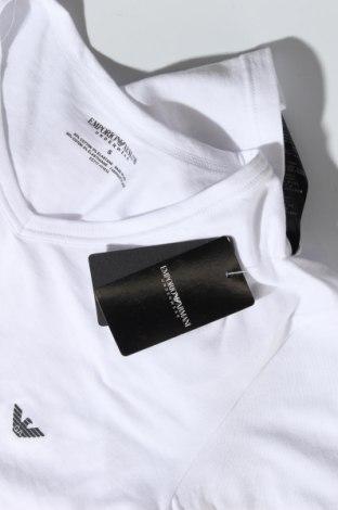 Дамска тениска Emporio Armani Underwear, Размер S, Цвят Бял, 95% памук, 5% еластан, Цена 76,32лв.
