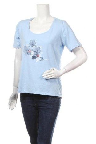Дамска тениска Esmara, Размер L, Цвят Син, 95% памук, 5% еластан, Цена 12,29лв.