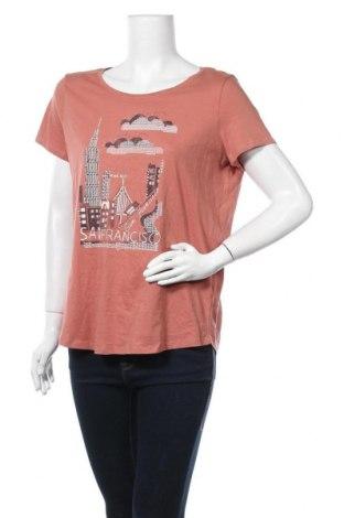 Дамска тениска Esprit, Размер XXL, Цвят Розов, Памук, Цена 34,91лв.