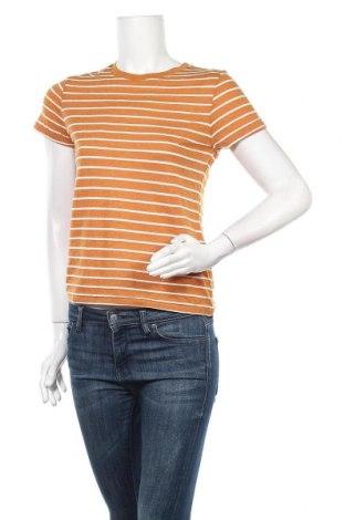 Дамска тениска Forever 21, Размер M, Цвят Жълт, 65% полиестер, 22% вискоза, 13% лен, Цена 11,60лв.