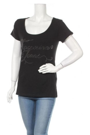 Дамска тениска Fracomina, Размер XL, Цвят Черен, 96% памук, 4% еластан, Цена 17,68лв.