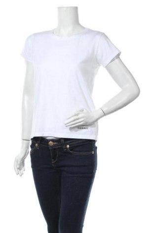 Дамска тениска Ganni, Размер M, Цвят Бял, Памук, Цена 23,21лв.