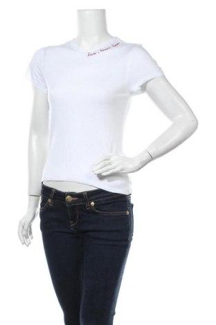 Дамска тениска H&M Divided, Размер S, Цвят Бял, Вискоза, Цена 12,50лв.