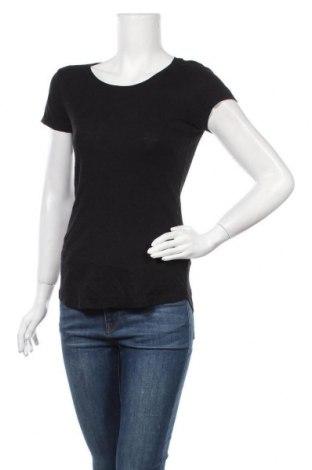 Дамска тениска H&M L.O.G.G., Размер S, Цвят Черен, Памук, Цена 16,80лв.