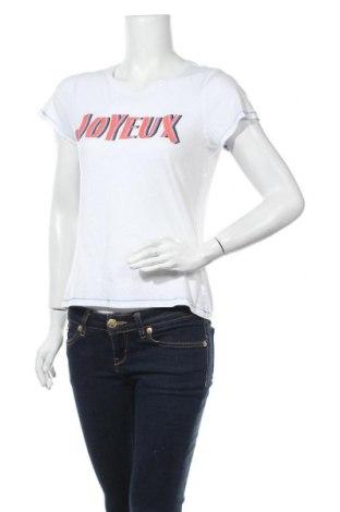 Дамска тениска H&M L.O.G.G., Размер S, Цвят Бял, Цена 13,44лв.