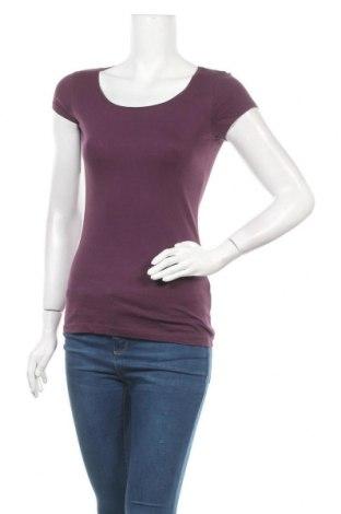 Дамска тениска H&M L.O.G.G., Размер S, Цвят Лилав, Памук, Цена 14,70лв.