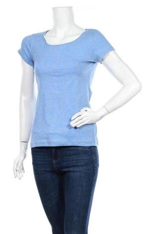 Дамска тениска H&M L.O.G.G., Размер M, Цвят Син, 54% полиестер, 43% памук, 3% еластан, Цена 11,76лв.