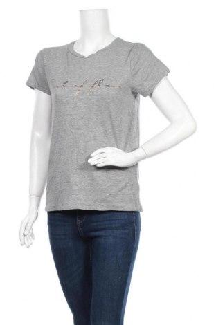 Дамска тениска H&M L.O.G.G., Размер S, Цвят Сив, 85% памук, 15% вискоза, Цена 15,75лв.