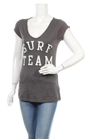 Дамска тениска H&M L.O.G.G., Размер M, Цвят Сив, Памук, Цена 16,96лв.