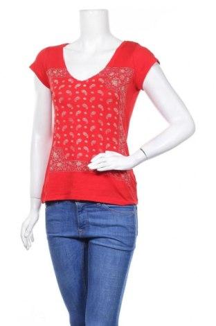 Дамска тениска H&M L.O.G.G., Размер S, Цвят Червен, Памук, Цена 15,75лв.