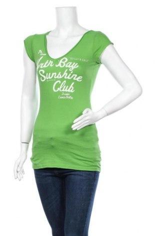 Дамска тениска H&M L.O.G.G., Размер S, Цвят Зелен, Памук, Цена 12,29лв.