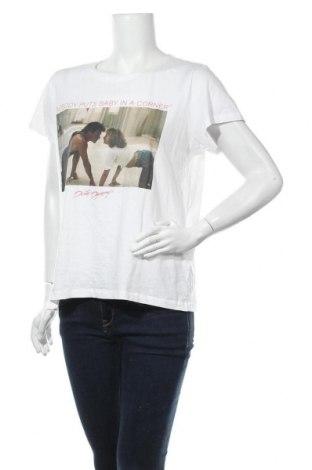 Дамска тениска H&M L.O.G.G., Размер L, Цвят Бял, Памук, Цена 15,12лв.