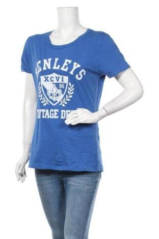Дамска тениска Henleys, Размер XL, Цвят Син, Памук, Цена 10,92лв.