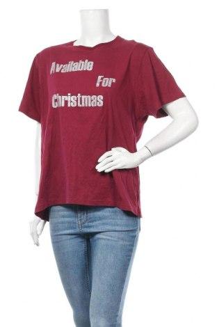 Дамска тениска Hot Kiss, Размер XXL, Цвят Червен, Памук, Цена 20,48лв.