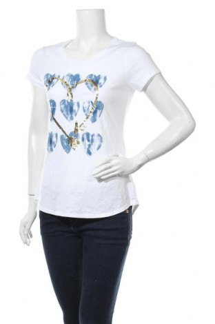 Дамска тениска Justice, Размер XL, Цвят Бял, 60% памук, 40% полиестер, Цена 15,17лв.