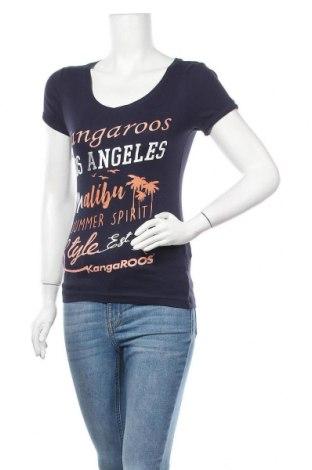 Дамска тениска Kangaroos, Размер XS, Цвят Син, Памук, Цена 26,28лв.