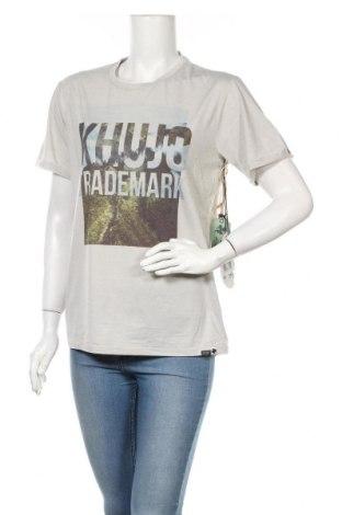 Дамска тениска Khujo, Размер M, Цвят Сив, 60% памук, 40% полиестер, Цена 62,21лв.