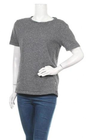 Дамска тениска Knowledge Cotton Apparel, Размер L, Цвят Сив, Памук, Цена 21,84лв.