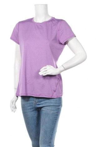 Дамска тениска Land's End, Размер M, Цвят Лилав, 96% полиестер, 4% еластан, Цена 15,17лв.