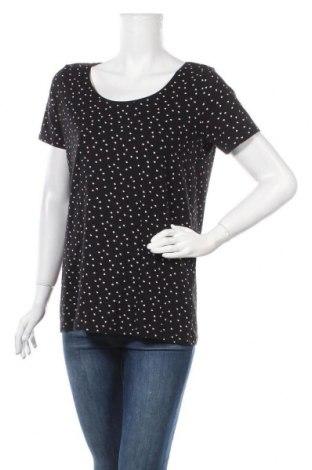 Дамска тениска Laura Torelli, Размер M, Цвят Черен, 95% памук, 5% еластан, Цена 11,76лв.