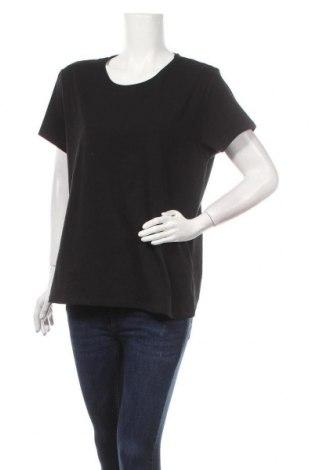 Дамска тениска Laura Torelli, Размер XL, Цвят Черен, 95% памук, 5% еластан, Цена 10,71лв.