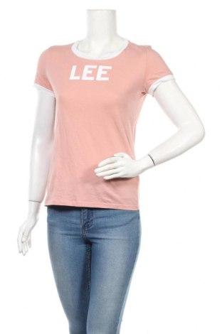 Дамска тениска Lee, Размер XS, Цвят Розов, Памук, Цена 13,23лв.