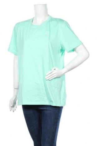 Дамска тениска Lotto, Размер XL, Цвят Зелен, Памук, полиестер, Цена 10,71лв.