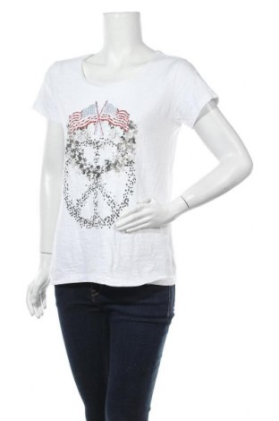 Дамска тениска MOS MOSH, Размер M, Цвят Бял, 100% памук, Цена 26,88лв.