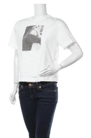 Дамска тениска Massimo Dutti, Размер M, Цвят Бял, Памук, Цена 16,80лв.