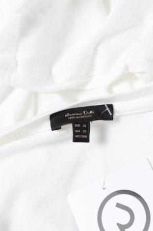 Дамска тениска Massimo Dutti, Размер XS, Цвят Бял, 67% лиосел, 33% памук, Цена 16,00лв.