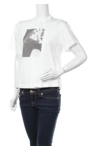Дамска тениска Massimo Dutti, Размер S, Цвят Бял, Памук, Цена 16,80лв.