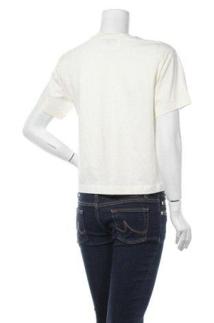 Дамска тениска Massimo Dutti, Размер S, Цвят Екрю, Памук, Цена 18,90лв.