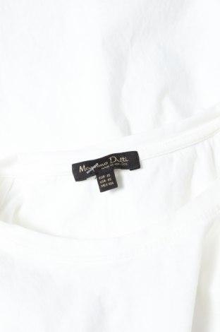 Дамска тениска Massimo Dutti, Размер XS, Цвят Бял, Памук, Цена 14,00лв.