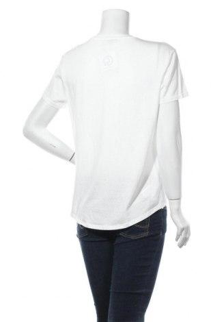 Дамска тениска Massimo Dutti, Размер L, Цвят Бял, 67% лиосел, 33% памук, Цена 16,00лв.