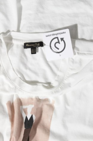 Дамска тениска Massimo Dutti, Размер S, Цвят Бял, 70% лиосел, 30% памук, Цена 19,60лв.