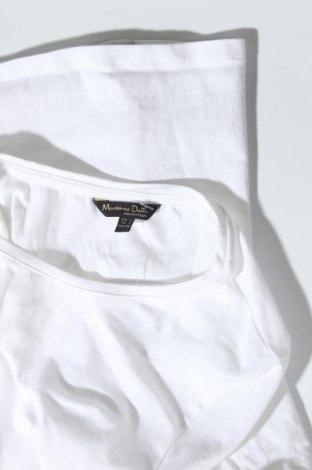 Дамска тениска Massimo Dutti, Размер L, Цвят Бял, 92% памук, 8% еластан, Цена 18,90лв.